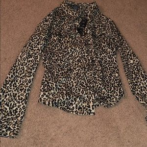Small cheetah print button up shirt